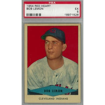 1954 Red Heart Baseball Bob Lemon PSA 5 (EX) *1526 (Reed Buy)