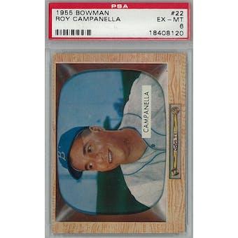 1955 Bowman Baseball #22 Roy Campanella PSA 6 (EX-MT) *8120 (Reed Buy)