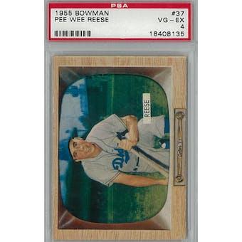 1955 Bowman Baseball #37 Pee Wee Reese PSA 4 (VG-EX) *8135 (Reed Buy)
