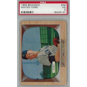 1955 Bowman Baseball #59 Whitey Ford PSA 3 (VG) *8157 (Reed Buy)