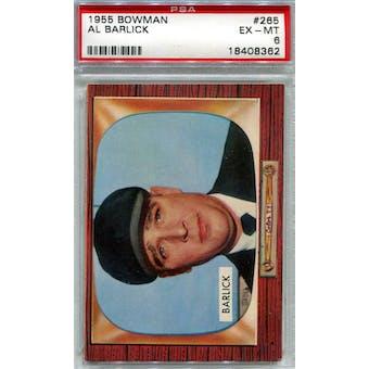 1955 Bowman Baseball #265 Al Barlick RC PSA 6 (EX-MT) *8362 (Reed Buy)