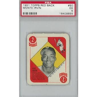 1951 Topps Red Back Baseball #50 Monte Irvin PSA 5 (EX) *9855 (Reed Buy)