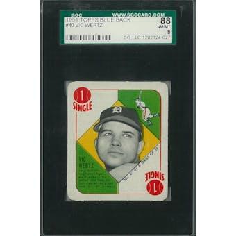 1951 Topps Blue Back Baseball #40 Vic Wertz SGC 88 (NM/MT) *4027 (Reed Buy)