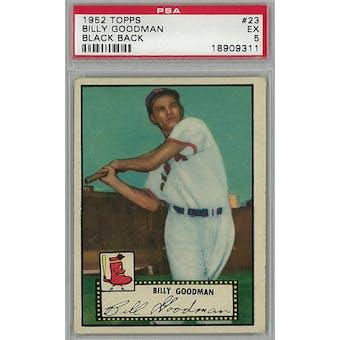 1952 Topps Baseball #23 Billy Goodman Black Back PSA 5 (EX) *9311 (Reed Buy)