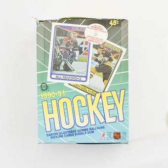1990/91 O-Pee-Chee Hockey Wax Box (Reed Buy)