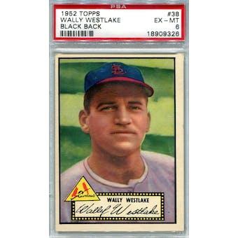 1952 Topps Baseball #38 Wally Westlake Black Back PSA 6 (EX-MT) *9326 (Reed Buy)