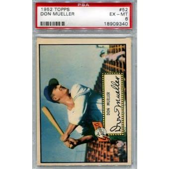 1952 Topps Baseball #52 Don Mueller Red Back PSA 6 (EX-MT) *9340 (Reed Buy)