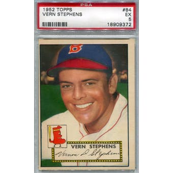 1952 Topps Baseball #84 Vern Stephens PSA 5 (EX) *9372 (Reed Buy)