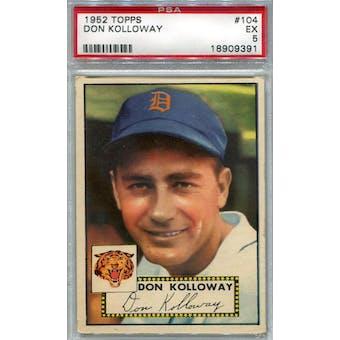 1952 Topps Baseball #104 Don Kolloway PSA 5 (EX) *9391 (Reed Buy)