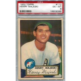 1952 Topps Baseball #112 Henry Majeski PSA 6 (EX-MT) *9399 (Reed Buy)