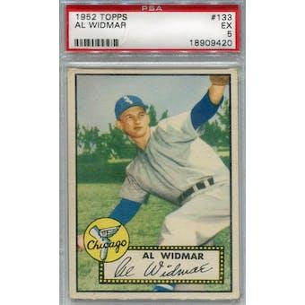 1952 Topps Baseball #133 Al Widmar PSA 5 (EX) *9420 (Reed Buy)