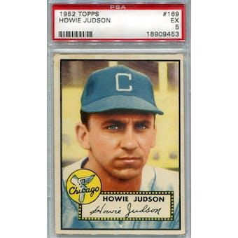 1952 Topps Baseball #169 Howie Judson PSA 5 (EX) *9453 (Reed Buy)