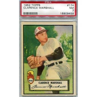 1952 Topps Baseball #174 Clarence Marshall PSA 7 (NM) *9458 (Reed Buy)