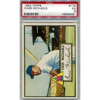 1952 Topps Baseball #178 Cass Michaels PSA 5 (EX) *9461 (Reed Buy)