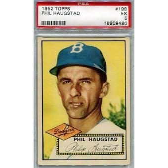 1952 Topps Baseball #198 Phil Haugstad PSA 5 (EX) *9480 (Reed Buy)