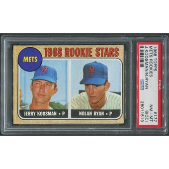 1968 Topps Baseball #177 Nolan Ryan Rookie PSA 8 (NM-MT) (OC)