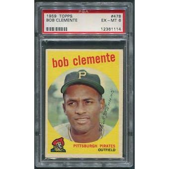 1959 Topps Baseball #478 Roberto Clemente PSA 6 (EX-MT)