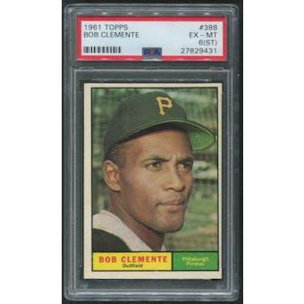1961 Topps Baseball #388 Roberto Clemente PSA 6 (EX-MT) (ST)