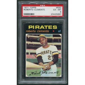 1971 Topps Baseball #630 Roberto Clemente PSA 6 (EX-MT)