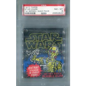 1977 Topps Star Wars 1st Series Wax Pack PSA 8 (NM-MT) *2825 (Reed Buy)