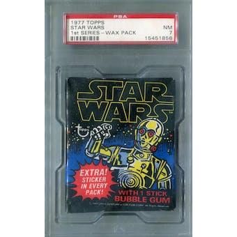 1977 Topps Star Wars 1st Series Wax Pack PSA 7 (NM) *1856 (Reed Buy)