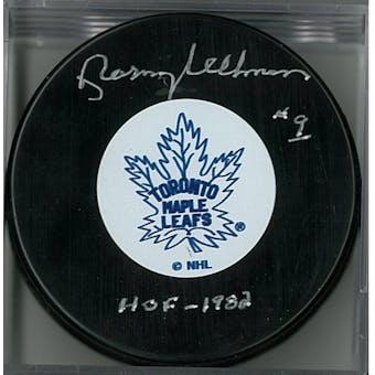 Norm Ullman Autographed Toronto Maple Leafs Hockey Puck (COJO COA)