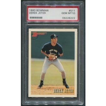 1993 Bowman Baseball #511 Derek Jeter Rookie PSA 10 (GEM MT)
