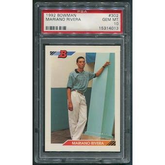 1992 Bowman Baseball #302 Mariano Rivera Rookie PSA 10 (GEM MT)