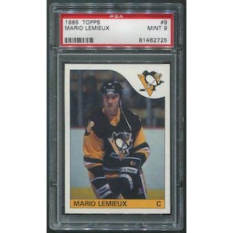 1985/86 Topps Hockey #9 Mario Lemieux Rookie PSA 9 (MINT)