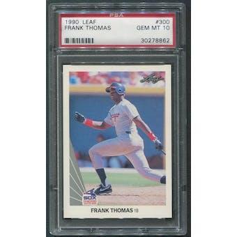1990 Leaf Baseball #300 Frank Thomas Rookie PSA 10 (GEM MT)