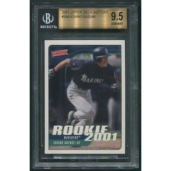 2001 Upper Deck Victory Baseball #564 Ichiro Suzuki Rookie BGS 9.5 (GEM MINT)