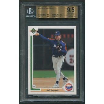 1991 Upper Deck Baseball #755 Jeff Bagwell Rookie BGS 9.5 (GEM MINT)