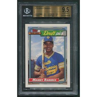 1992 Topps Baseball #156 Manny Ramirez Rookie BGS 9.5 (GEM MINT)