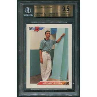 1992 Bowman Baseball #302 Mariano Rivera Rookie BGS 9.5 (GEM MINT)