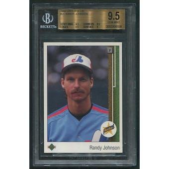 1989 Upper Deck Baseball #25 Randy Johnson Rookie BGS 9.5 (GEM MINT)