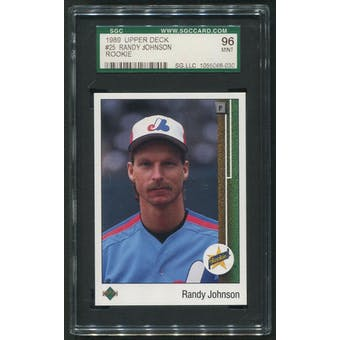1989 Upper Deck Baseball #25 Randy Johnson Rookie SGC 96 (MINT)