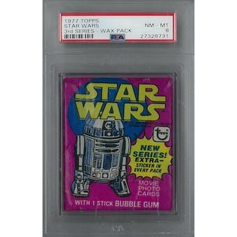 1977 Topps Star Wars 3rd Series Wax Pack PSA 8 (NM-MT) *8731 (Reed Buy)
