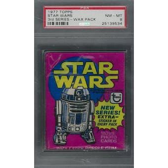 1977 Topps Star Wars 3rd Series Wax Pack PSA 8 (NM-MT) *9534 (Reed Buy)