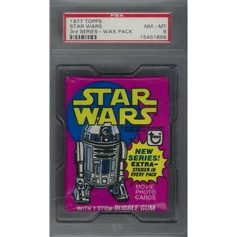 1977 Topps Star Wars 3rd Series Wax Pack PSA 8 (NM-MT) *1868 (Reed Buy)