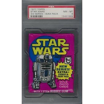 1977 Topps Star Wars 3rd Series Wax Pack PSA 8 (NM-MT) *1868 (Reed Buy)