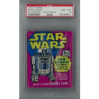 1977 Topps Star Wars 3rd Series Wax Pack PSA 8 (NM-MT) *8831 (Reed Buy)