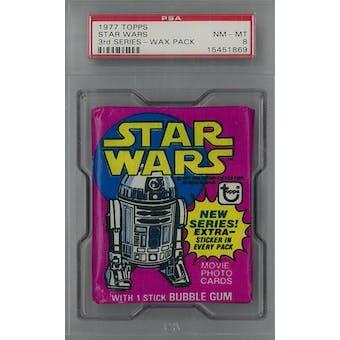 1977 Topps Star Wars 3rd Series Wax Pack PSA 8 (NM-MT) *1869 (Reed Buy)