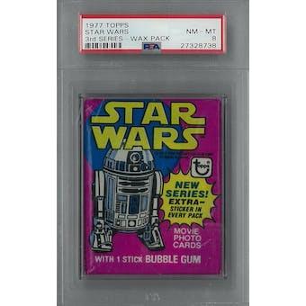 1977 Topps Star Wars 3rd Series Wax Pack PSA 8 (NM-MT) *8738 (Reed Buy)