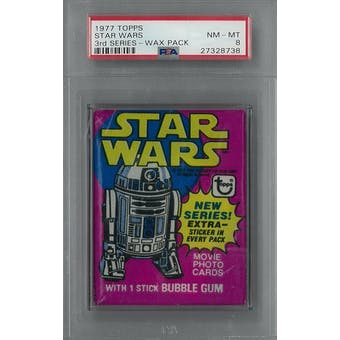 1977 Topps Star Wars 3rd Series Wax Pack PSA 8 (NM-MT) *8738 (Reed Buy)