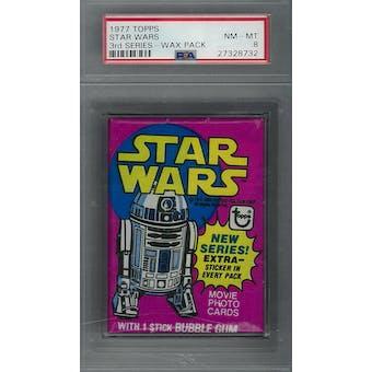 1977 Topps Star Wars 3rd Series Wax Pack PSA 8 (NM-MT) *8732 (Reed Buy)
