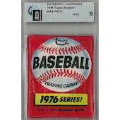 1976 Topps Baseball Wax Pack GAI 9 (Mint) *1637 (Reed Buy)
