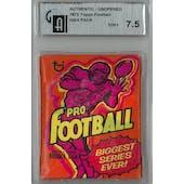 1973 Topps Football Wax Pack GAI 7.5 (NM+) *8759 (Reed Buy)