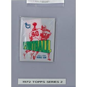 1972 Topps Series 2 Football Wax Pack (Fritsch Vault) (Reed Buy)
