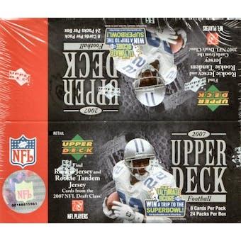 2007 Upper Deck Football 24 Pack Box