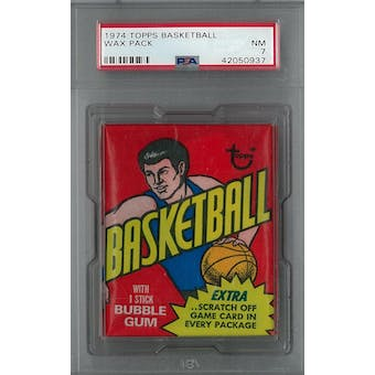 1974/75 Topps Basketball Wax Pack PSA 7 (NM) *0937 (Reed Buy)